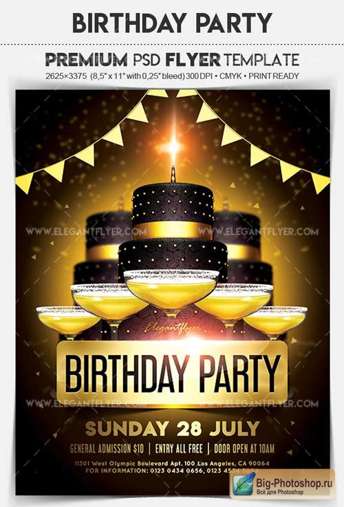 Birthday Party V14 2018 Flyer PSD Template