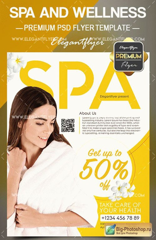 Spa and Wellness V1 2018 Flyer PSD Template