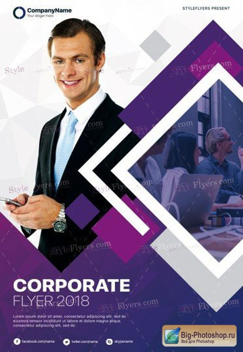 Corporate V7 2018 PSD Flyer Template
