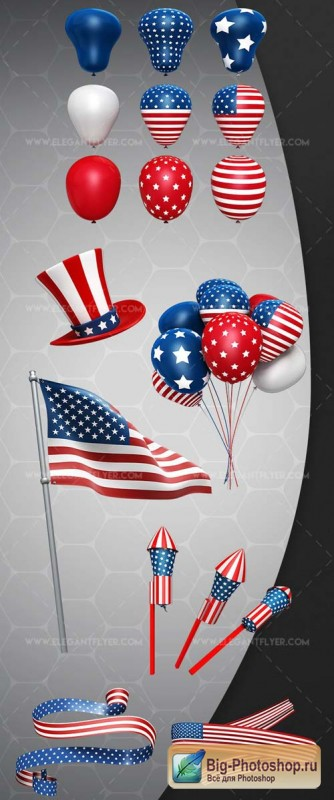 4th July Set V1 2018 3d Render Templates