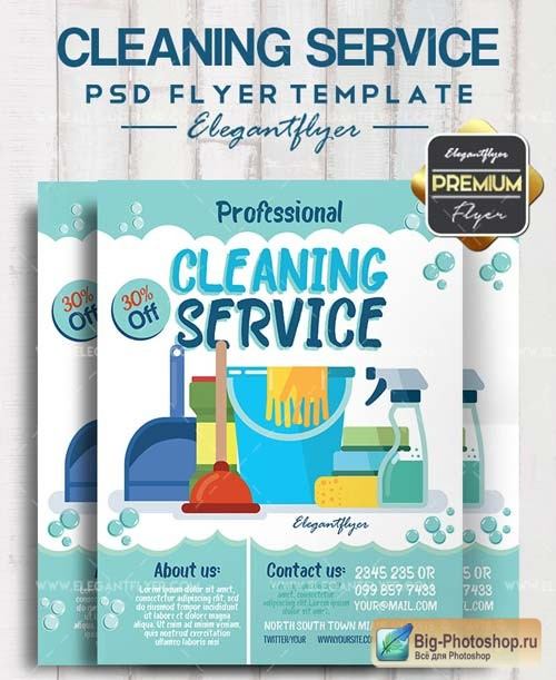 Cleaning Service V3 2018 Flyer PSD Template