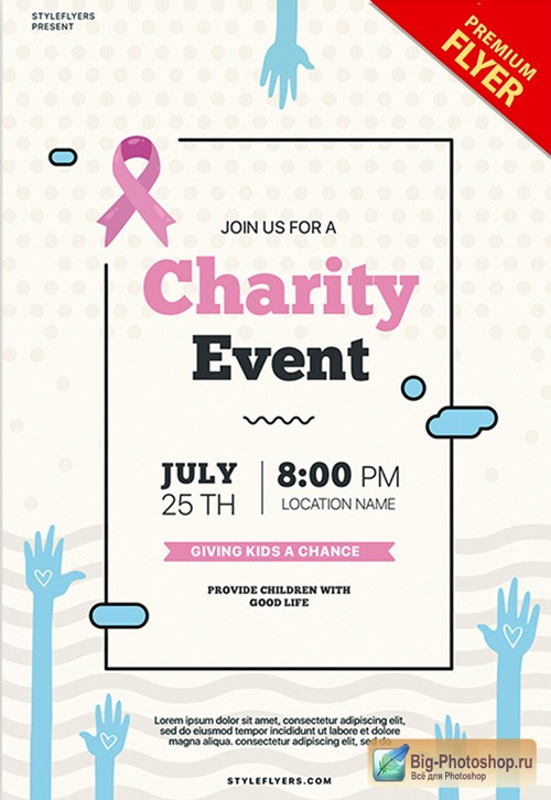 Charity Event V2 2018 PSD Flyer Template