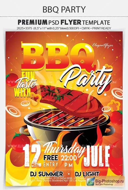 BBQ Party V11 2018 Flyer PSD Template