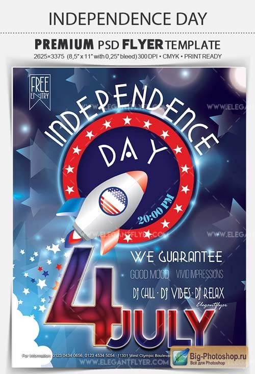 Independence Day 4 July V16 2018 Flyer PSD Template