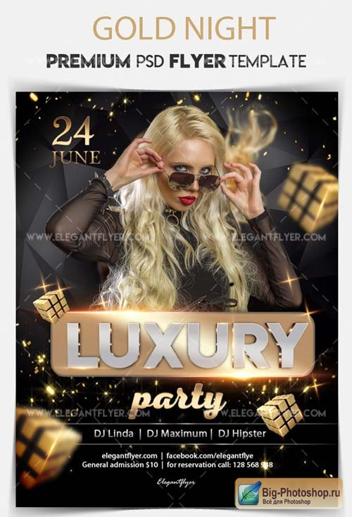 Luxury Party V5 2018 Flyer PSD Template