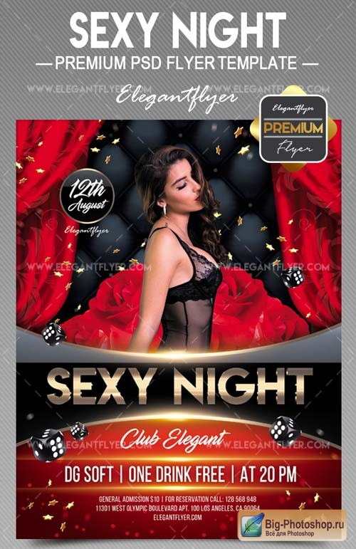 Sexy Night V11 2018 Flyer PSD Template