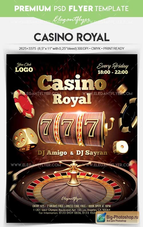 Casino Royal V7 2018 Flyer PSD Template