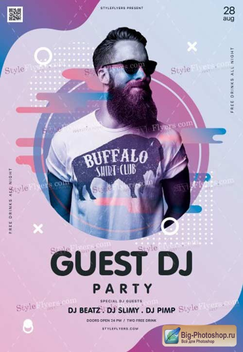 Guest Dj Party V9 2018 PSD Flyer Template