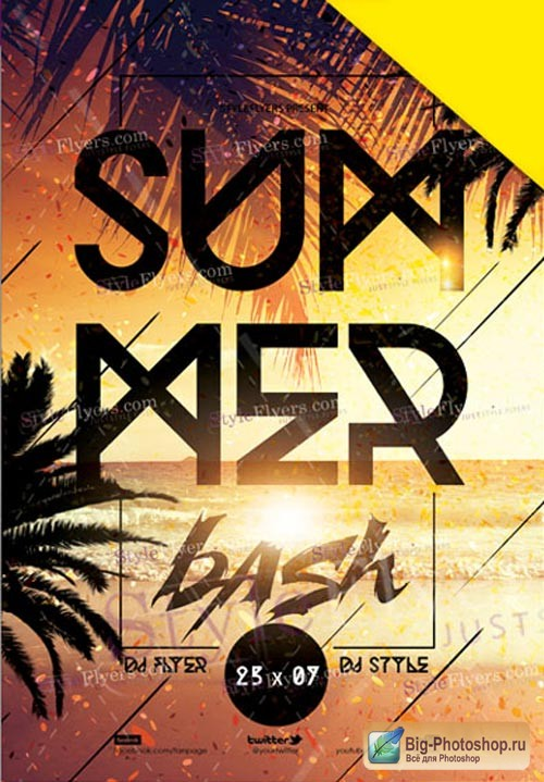Summer Bash V30 2018 Flyer PSD Template
