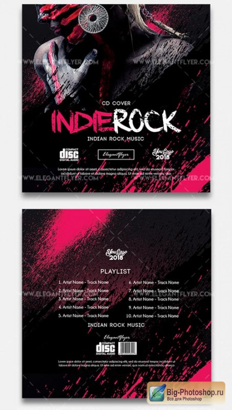 Indie Rock V7 2018 CD Cover