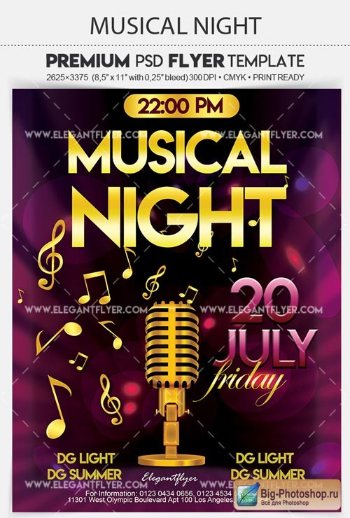 Musical Night V8 2018 Flyer PSD Template