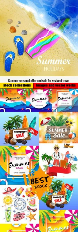 Summer seasonal offer and sale for rest and travel
