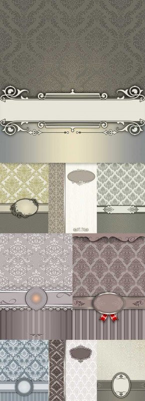 Elegant vintage style ornament decorative background