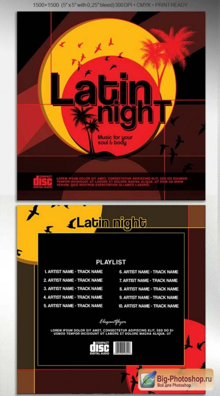 Latin night V1 2018 CD Cover Template