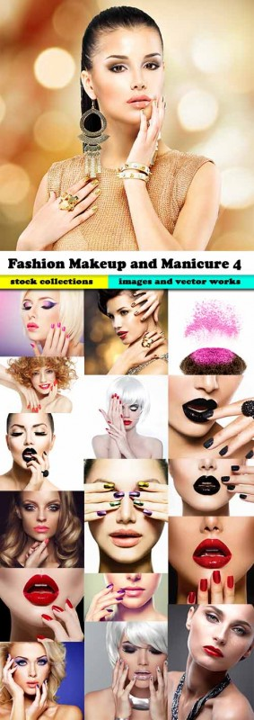Fashion Makeup and Manicure 4, 25xJPG