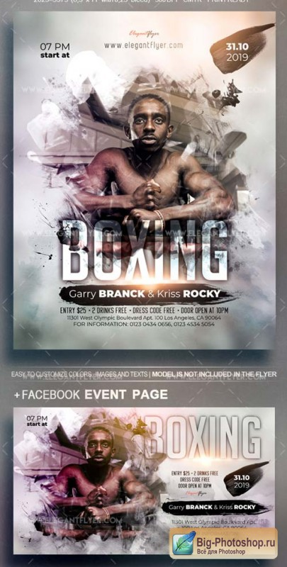 Boxing Event V38 2018 Flyer PSD Template