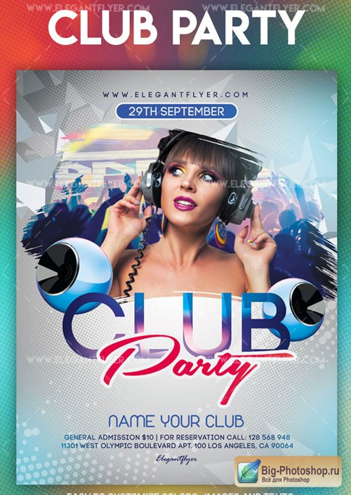 Club Party V45 2018 Flyer PSD Template