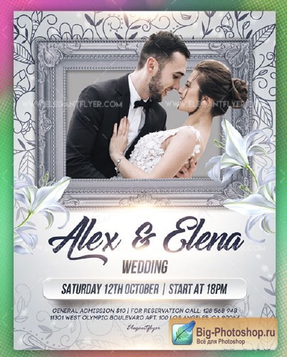 Wedding V55 2018 Flyer PSD Template