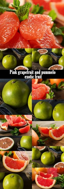Pink grapefruit and pummelo exotic fruit