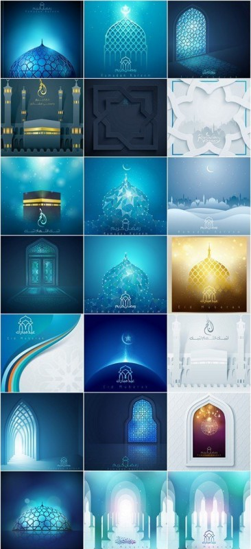 Arab and Islamic design templates - 24xEPS