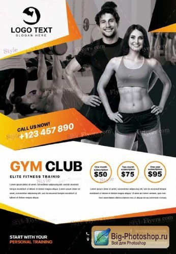 GYM V42 2018 PSD Flyer Template