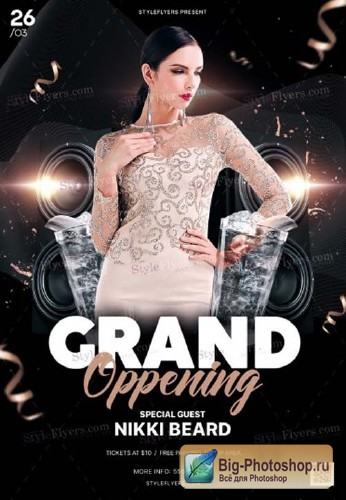 Grand Oppening V20 2018 PSD Flyer Template
