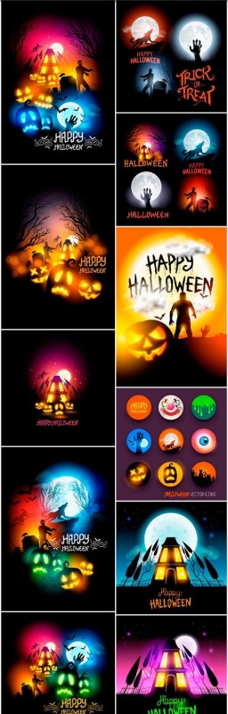 Halloween collection 58 - 12 EPS