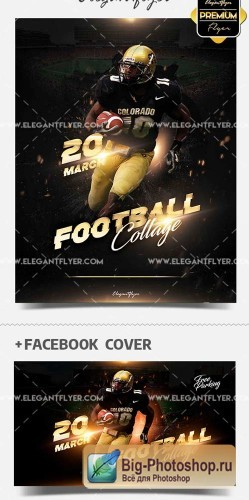 Sunday College Football V2 2018 Flyer Template