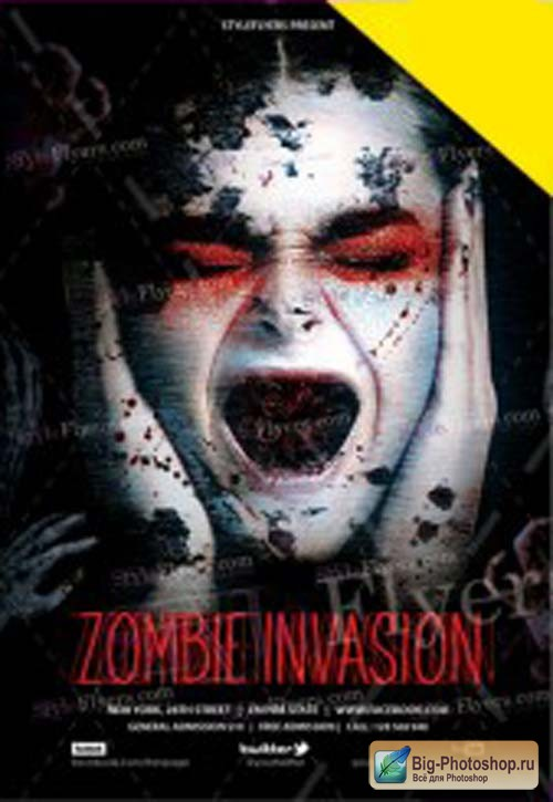 Zombie Invasion V1 2018 PSD Flyer Template