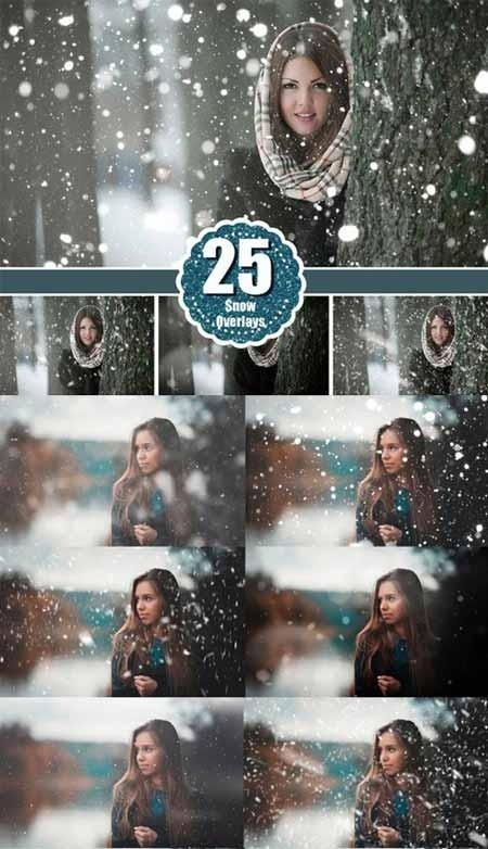 Realistic snow winter photo overlay 479029