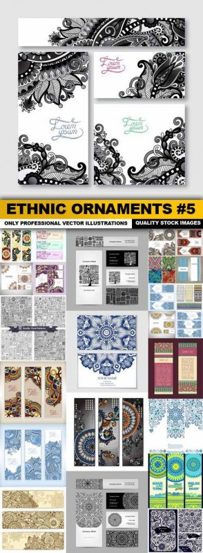 Ethnic Ornaments #5 - 25 Vector