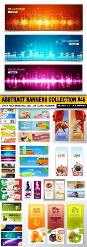 Abstract Banners Collection #46 - 15 Vectors