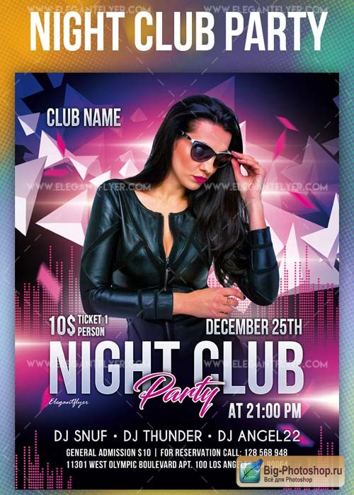 Night Club Party V1 2019 Flyer PSD Template