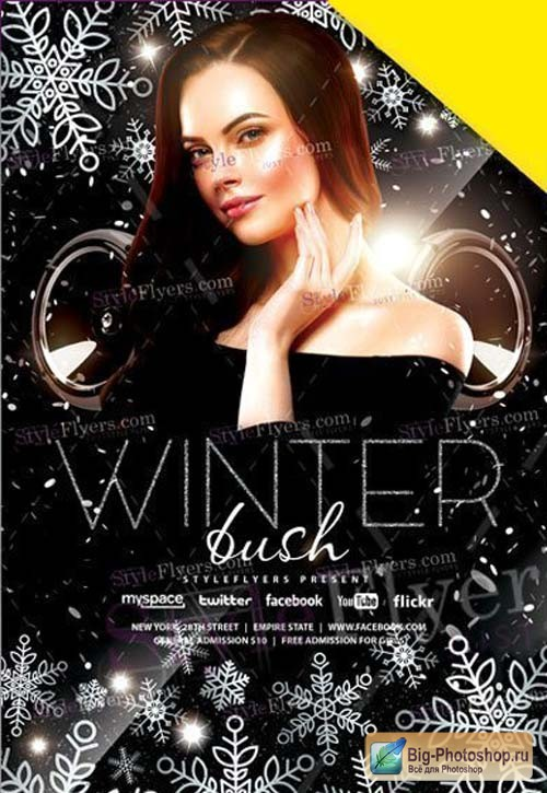 Winter bush V1 2019 Flyer PSD