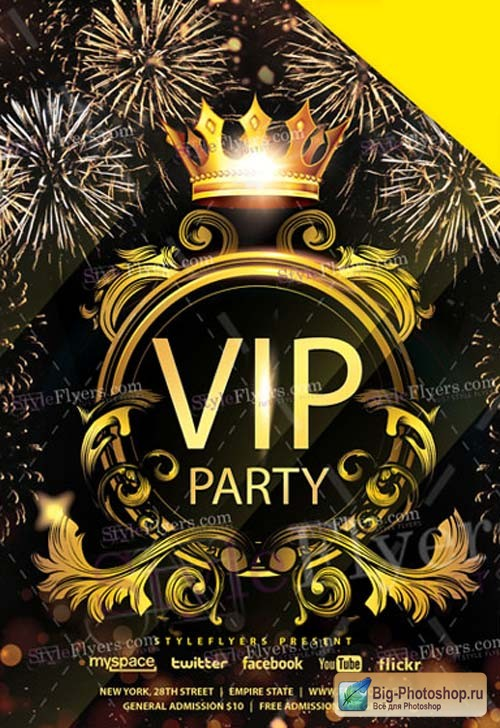 VIP Party V1 2019 Flyer PSD