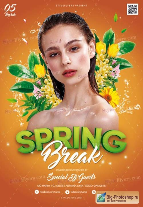Spring Break V1 2019 PSD Flyer Template
