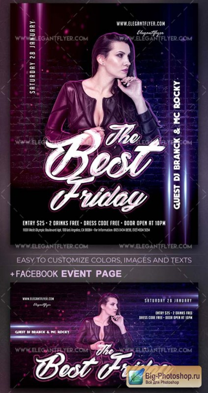 The Best Friday V1 2019 Flyer PSD Template+ Facebook Cover + Instagram Post