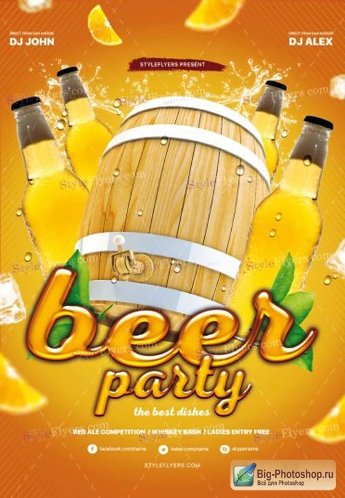Beer Party V2 2019 PSD Flyer Template