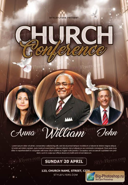 Church Conference V7 2019 PSD Flyer Template