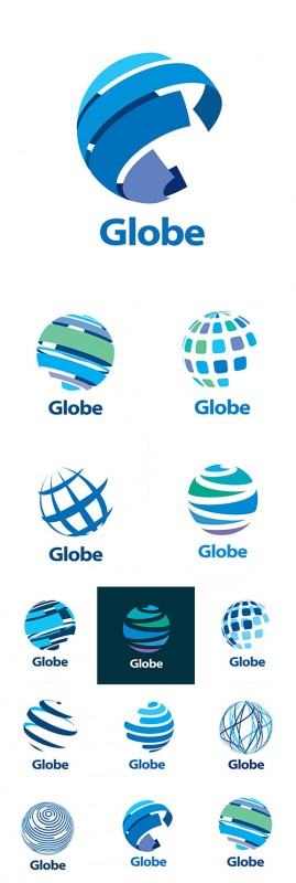 Business globe abstract modern network element vector