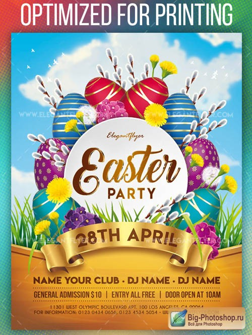Easter Party V14 2019 Flyer PSD Template