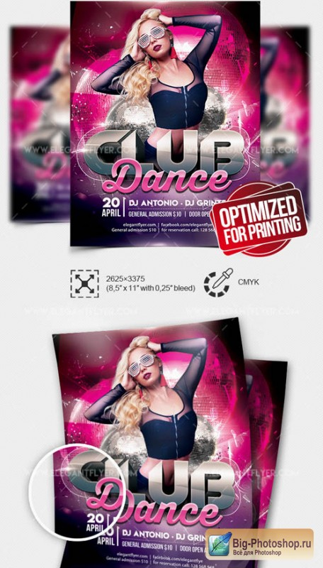 Club Dance V15 2019 Flyer PSD Template