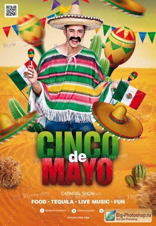 Cinco De Mayo V14 2019 PSD Flyer Template
