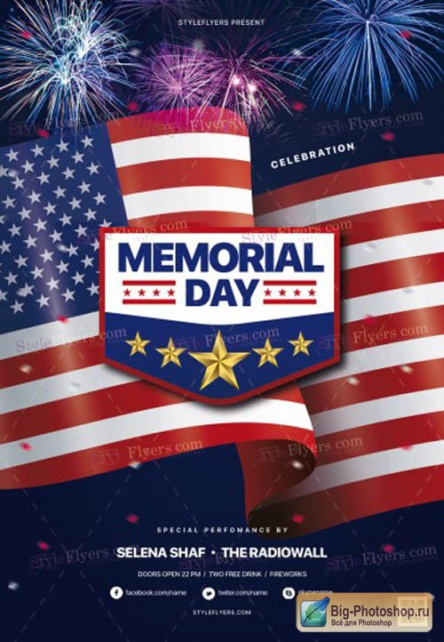 Memorial Day V15 2019 Flyer Template