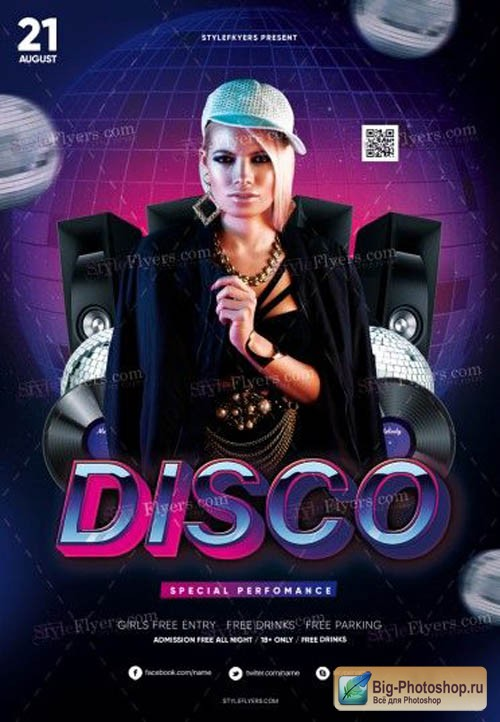 Disco V11 2019 PSD Flyer Template