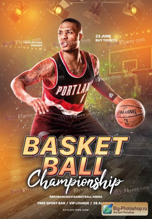 Basketball V17 2019 PSD Flyer Template
