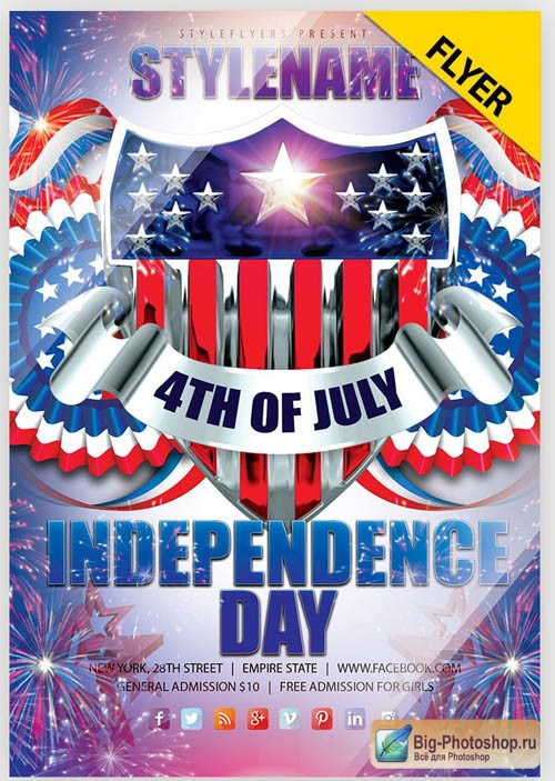 Independence Day V18 2019 Flyer PSD Template