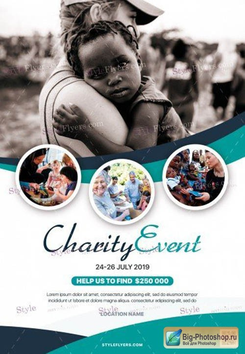 Charity Event V16 2019 PSD Flyer Template