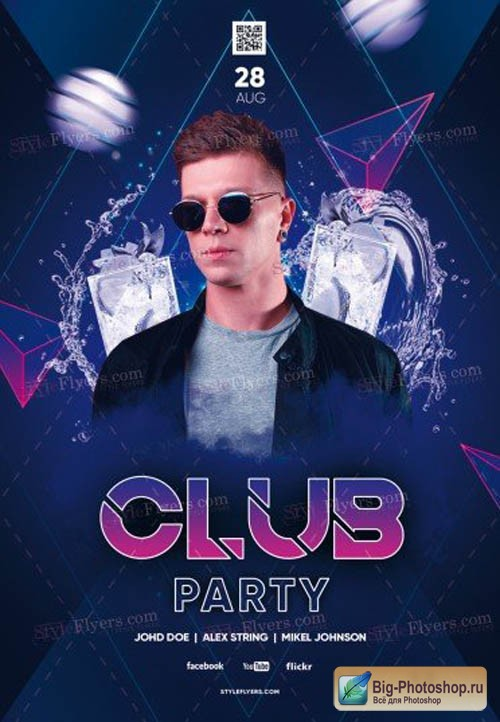 Club Party V0708 2019 PSD Flyer Template