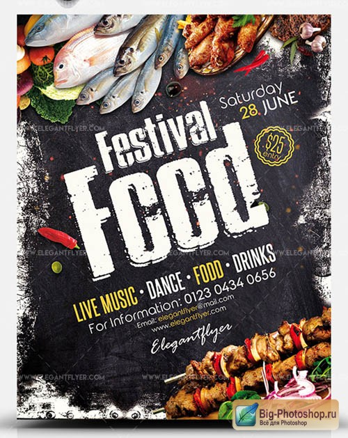Food Festival V0708 2019 PSD Flyer Template